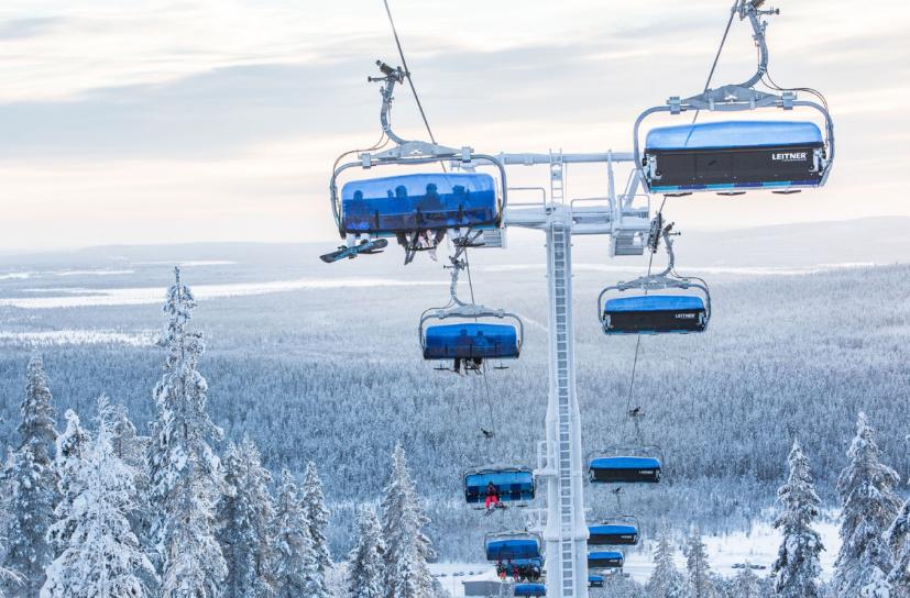 Levi Finland: Ski cable car
